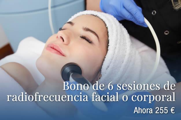 Bono de 6 sesiones de radiofrecuencia facial o corporal